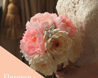 Beautiful Handmade Paper Wedding Bouquet - Florence