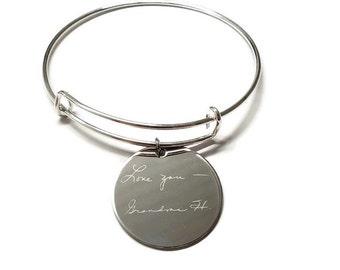 Handwritten Bracelet - Handwritten Pendant Bracelet