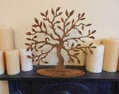 Tree of Life Medium Rusty Metal Tree Sculpture  Table Top Art  Mantelpiece Decoration  Rustic Tree Decor  Tree Decoration  Tree Statue