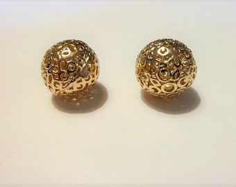 Gold plated filigree balls