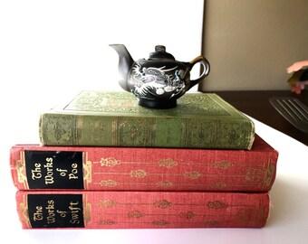 Miniature Japanese Dragon Tea Pot, Vintage Tea Pot, Miniature Tea Pot, Made in Japan, Vintate Knick Knacks, Black Dragon Design