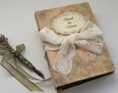 Wedding guest book, boho wedding, photo album, memory book in vintage Toscana style. 22x16 cm.