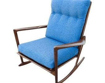 Danish Modern Kofod Larsen Rocking Chair by Selig