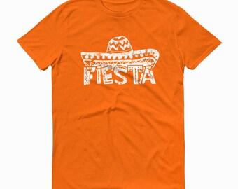 Fiesta Shirt, Sombreo T-shirt, Mens Fiesta Shirt, Womens Fiesta Shirt, Mexican Sombrero, Sombrero Fiesta