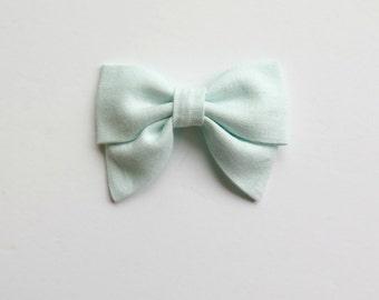 Sea Mist Mini Sailor Bow