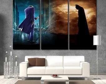 Joker Joker Wall Art Batman Joker Poster Batman Poster Joker Print Joker Canvas Joker Wall Decor Batman Print Joker art Movie canvas print