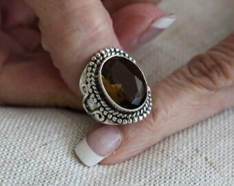 Smokey Topaz Quartz Ring-Size 7!