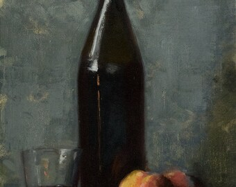 Still Life with Wine and Peaches