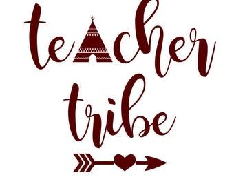 Teacher Tribe Cut File SVG PNG DXF teacher tribe arrow