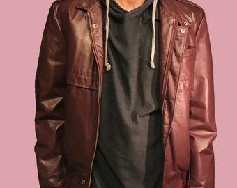 1980s Genuine Leather Jacket