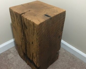 Reclaimed Beam End Table