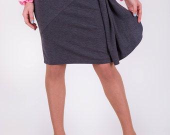 Pencil skirt Straight skirt Knee length skirt Skirt grey Jersey grey skirt   Wear to work skirt Classic skirt