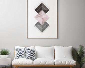 Geometric Wall Art, Geometric Prints, Abstract Prints, Nordic Art, Minimalist Art Prints, Minimalist Wall Art, Scandinavian Art, Home Decor