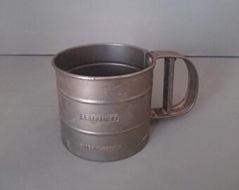 LeifHeit Vintage  Mechanical Flour Shaker Sifter Sieve