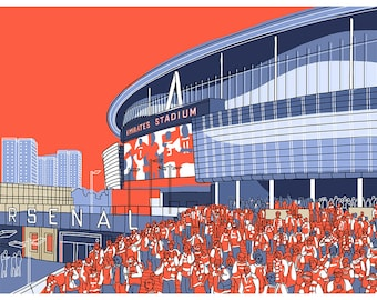 Arsenal, Emirates Stadium -  Signed Limited Edition Art Print