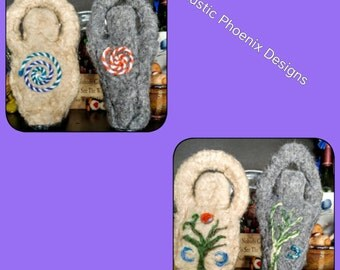 Spiral God & Goddess - Felt Statues (Set of 2)