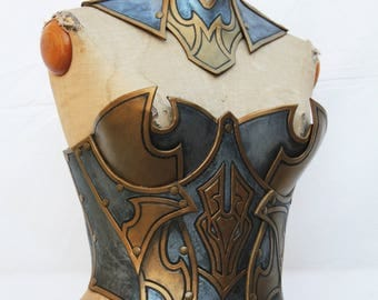 Leather gorget and corset
