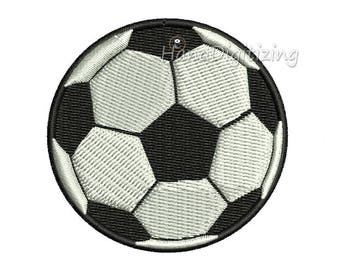 Soccer ball Machine Embroidery Design 4 Sizes