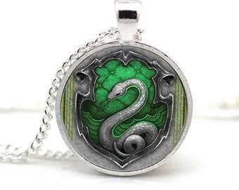 House Crest Necklace Slytherin
