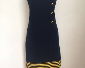 VINTAGE 1960's MOD dress size UK6