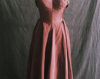 Vintage Copper Strapless Gown