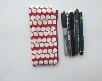 Pencil Pouch - Pen Bag - Traveler's Notebook - Planner - Bullet Journal - Midori - Fountain Pen - DPN's - Journal - Crochet Hooks