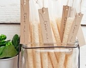 Wedding Rice Toss - Personal White Rice Wands - Outdoor Send Off - Reception Exit - Toss Me - Confetti alternative - 25 tubes per pack
