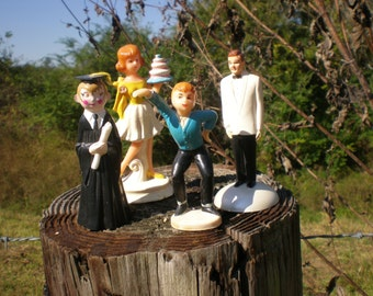 Wilton Retired Cake Toppers, Vintage Cake Toppers, Coast Novelty, Groom, Birthday Girl, Graduation, Dancer, Collectible Figurines