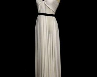 Empress Draped Jersey Maxi Dress - Made to Order - FREE SHIPPING WORLDWIDE