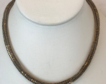 Bronze Beaded Necklace