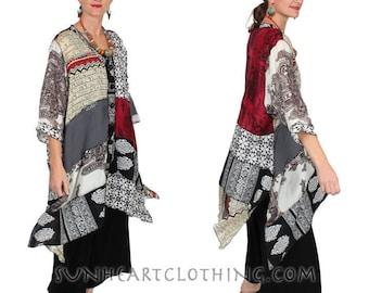 SunHeart Goddess Boho Top Jacket Dress Zen Mood Nothing-Matches Boho HIppie Chic Resort Wear one size Sml Med Large xl 1x 2x