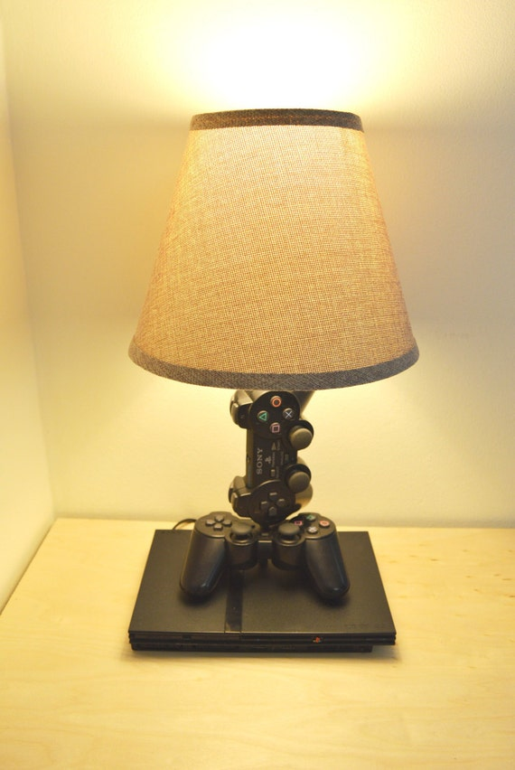 Playstation 2 Desk Lamp Console and Controller Sculpture