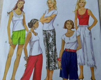 Size 16-22 Misses Pants Variations Misses Shorts Sewing Pattern Supply Butterick 5044 Casual Wear Pants  Bermudas - Easy Misses Pants FF