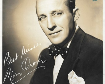 1950 Publicity Photo Bing Crosby with Photographed Signature