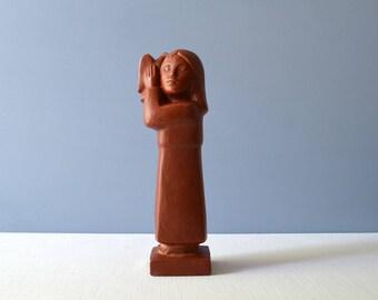Vintage Original Cleo Hartwig Peace Sculpture
