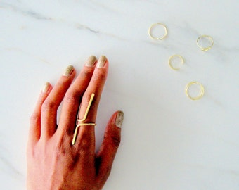 Highs and Lows Ring, statement ring, statement rings, geometric ring, hammered ring, gold hammered ring, bohemian ring, boho ring, rose gold