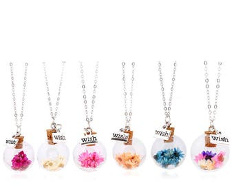 Real Dried flower necklaces
