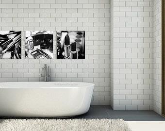 Chanel/Set Of 3 Prints/Chanel Decor/Chanel Bathroom Set/Bathroom Decor