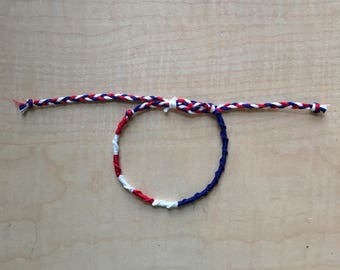 American Flag Friendship Bracelet - Fourth of July Friendship Bracelet