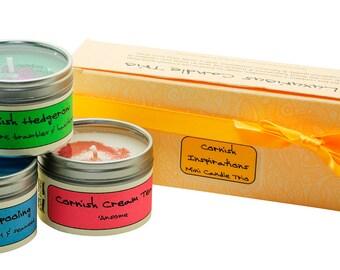 Cornish Inspirations Mini Candle Trio