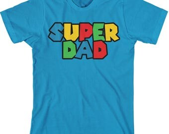 Mario Dad TShirt - Matching Family T Shirts - Mens Funny Family Tees - LAT Adult Unisex Shirt - Item 3662 - Full Color