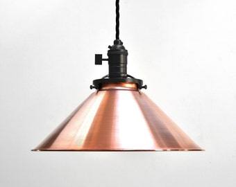 cone pendant light copper pendant light modern pendant light industrial pendant light