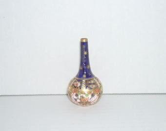 Antique Royal Crown Derby Imari Miniature Bottle Vase