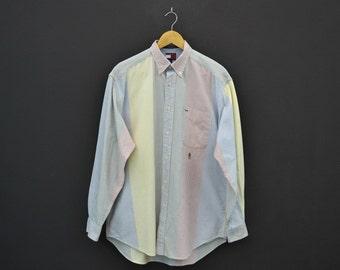 Tommy Hilfiger Vintage Shirt Vintage Tommy Hilfiger Stripe Shirt Mens Size S