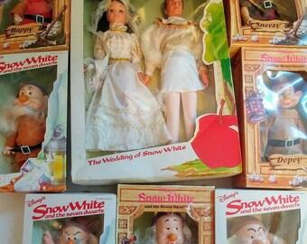 Vintage Disney Snow White snd the Seven Dwarfs. The Wedding of Snow White.