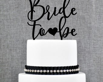 Bride to Be Cake Topper, From Miss To Mrs Cake Topper, Bachelorette Cake Topper, Bridal Shower Cake Topper, Bridal Shower Decorations (T369)