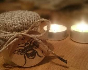 25 x Rustic Raw Honey Jars - Wedding Favours