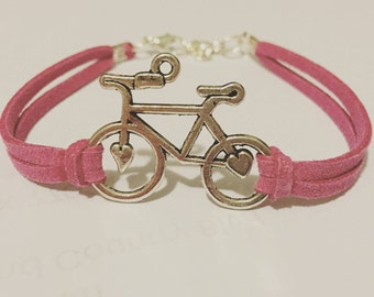 Bicycle Bracelet / Cycling Jewelry / Stackable Bike Bracelet / Gifts for Cyclists / Bike Charm