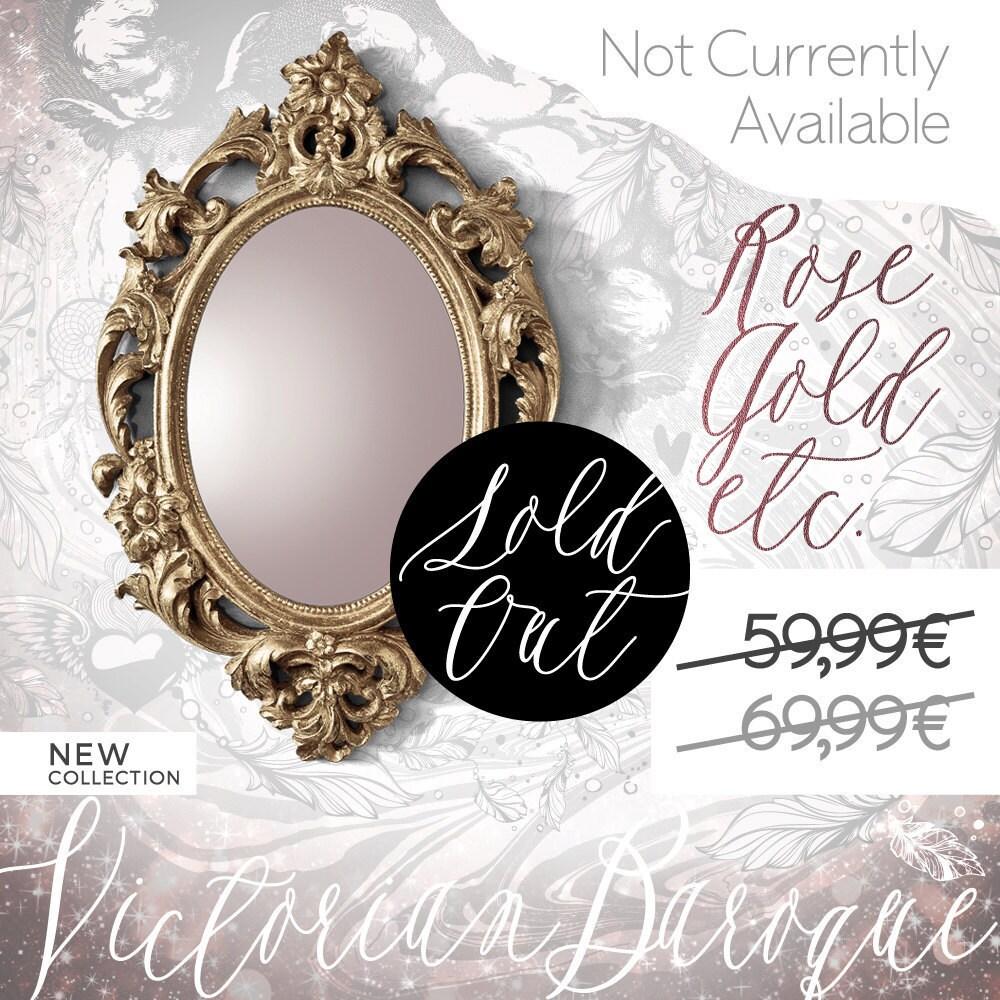 Miroir baroque style vintage miroir ovale par leboudoirparis for Miroir style retro