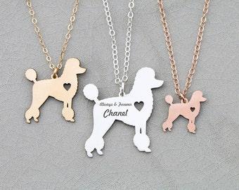 SALE • Poodle Necklace • Toy Poodle • Custom Dog Poodle Gift • Engraved Dog Pendant • Personalized Pet Jewelry • Dog Gift Idea • Shelter Dog